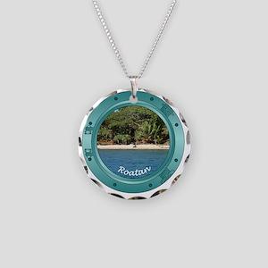 RoatanBeach-Porthole Necklace Circle Charm