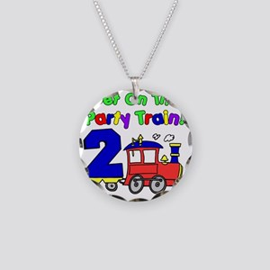 Get On The Party Train 2 Yea Necklace Circle Charm