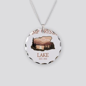 Camp Crystal Lake Counselor Necklace Circle Charm
