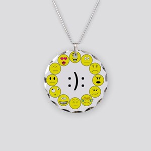 Emoticons Necklace Circle Charm
