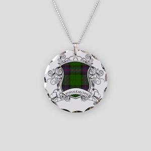 Armstrong Tartan Shield Necklace Circle Charm
