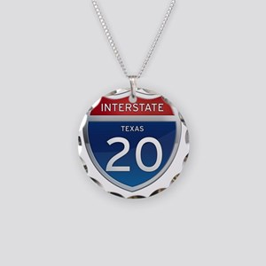 Interstate 20 - Texas Necklace Circle Charm