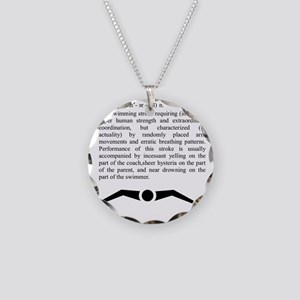 butterfly_2 Necklace Circle Charm