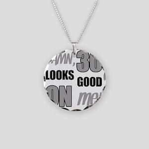 Funny 30th Birthday (Damn) Necklace Circle Charm