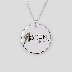 Aspen Colorado Necklace Circle Charm