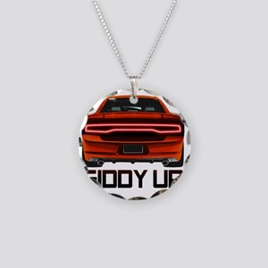 Charger GiddyUp Necklace Circle Charm