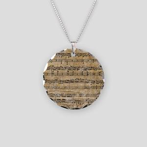 SheetMusic1FF Necklace Circle Charm