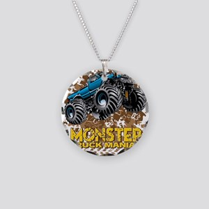 Monster Truck Maniac Necklace Circle Charm