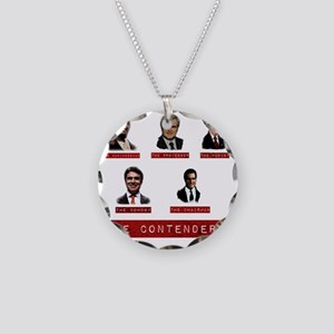 The Contenders onBlack Necklace Circle Charm