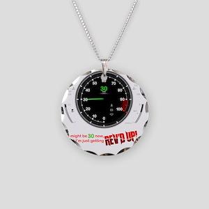 speedometer-30 Necklace Circle Charm