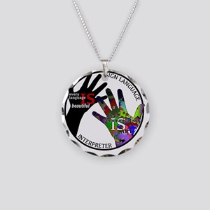 Communication is ART Necklace Circle Charm