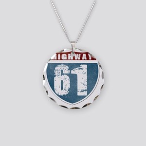 Highway 61 Necklace Circle Charm