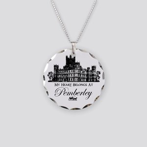 my heart belongs at Pemberley Necklace Circle Char
