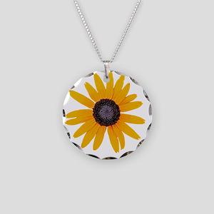 Black Eyed Susan Gift iPad H Necklace Circle Charm
