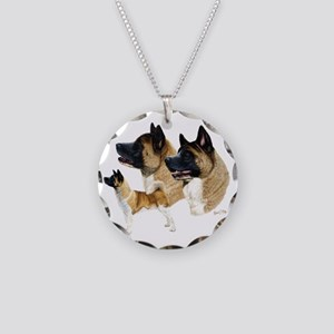 Akita Multi Necklace Circle Charm