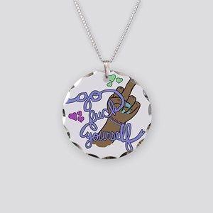 Feminist Queer Femme Fuck Yo Necklace Circle Charm
