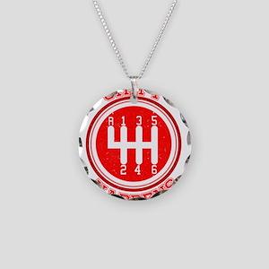 Shift Happens - Car Lover Necklace Circle Charm