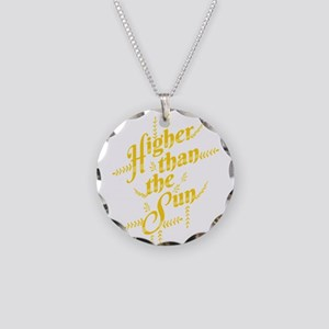 Higher Than The Sun Necklace Circle Charm