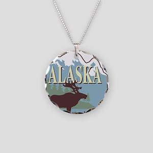 alaska Necklace Circle Charm