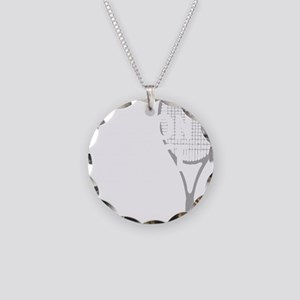 tennisWeapon1 Necklace Circle Charm
