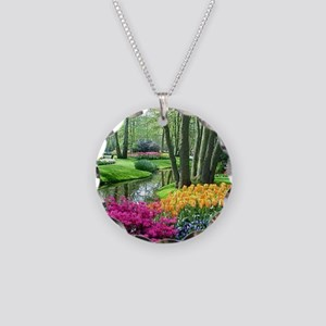 beautiful garden 2 Necklace Circle Charm