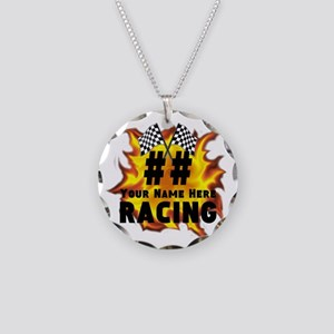 Flaming Racing Necklace