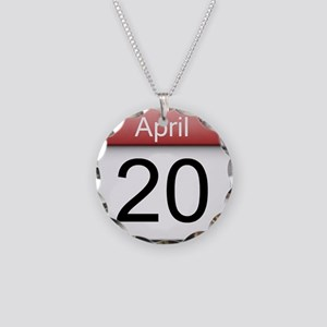 4:20 Date Necklace Circle Charm