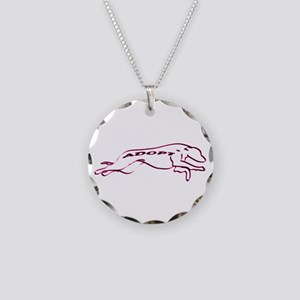 Adopt a Greyhound (Neon) Necklace Circle Charm