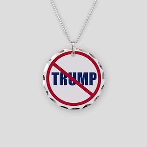Trump Necklace Circle Charm