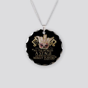 As You Like It Quote Necklace Circle Charm