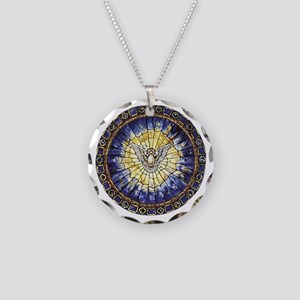 Holy Spirit Necklace Circle Charm