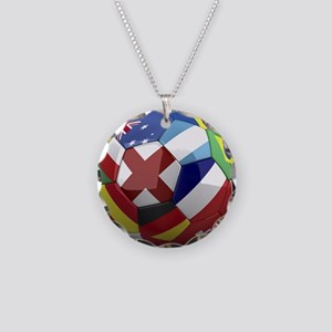 World Cup Fever Necklace Circle Charm