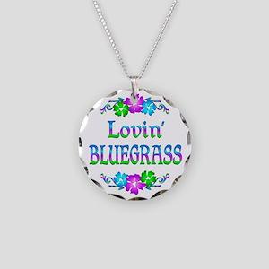 Lovin Bluegrass Necklace Circle Charm