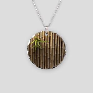Bamboo Wall Necklace Circle Charm