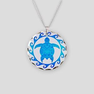 Ocean Blue Turtle Sun Necklace