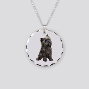Brindle Cairn (#14) Necklace Circle Charm