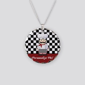 Personalized French Chef Necklace Circle Charm