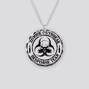 Zombie Outbreak Response Team Necklace Circle Char