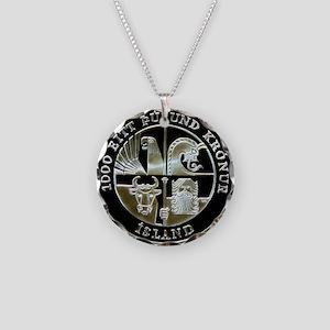 Icelandic Leif Ericson 1000 Necklace Circle Charm