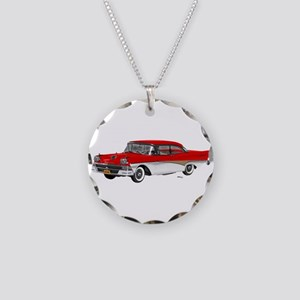 1958 Ford Fairlane 500 Red & White Necklace Circle