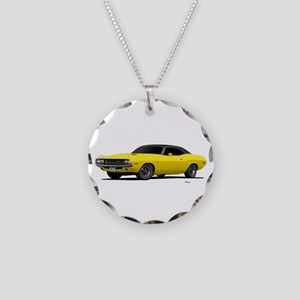 1970 Challenger Bright Yellow Necklace Circle Char