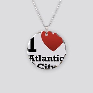 I Love Atlantic City Necklace Circle Charm