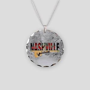 Nashville Music City-CO1 Necklace Circle Charm