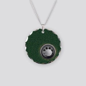 Golf Cup and Ball Necklace Circle Charm