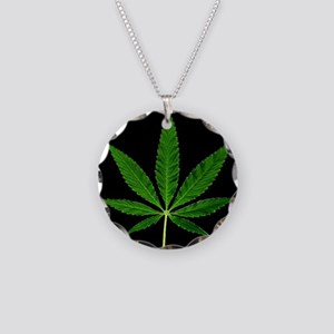 Black Marijuana Plant Necklace
