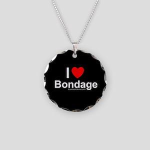 Bondage Necklace Circle Charm