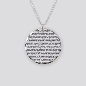 Thelemic Fable Necklace Circle Charm