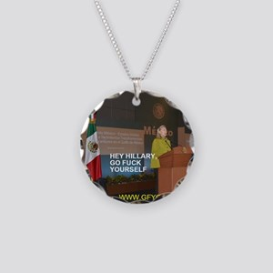 GFY Hillary Clinton Necklace Circle Charm