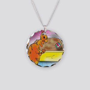 6794_easter_cartoon Necklace Circle Charm