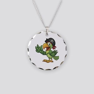 Pirate-Parrot Necklace Circle Charm